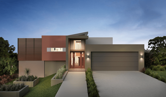 side sloping house
