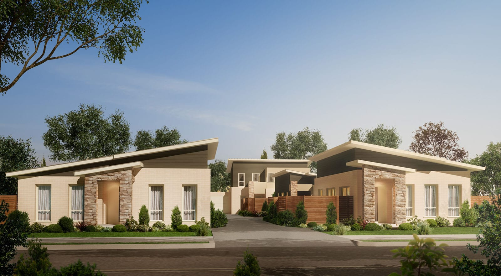 Front View of Mulberry custom home design at St. Rosebud West