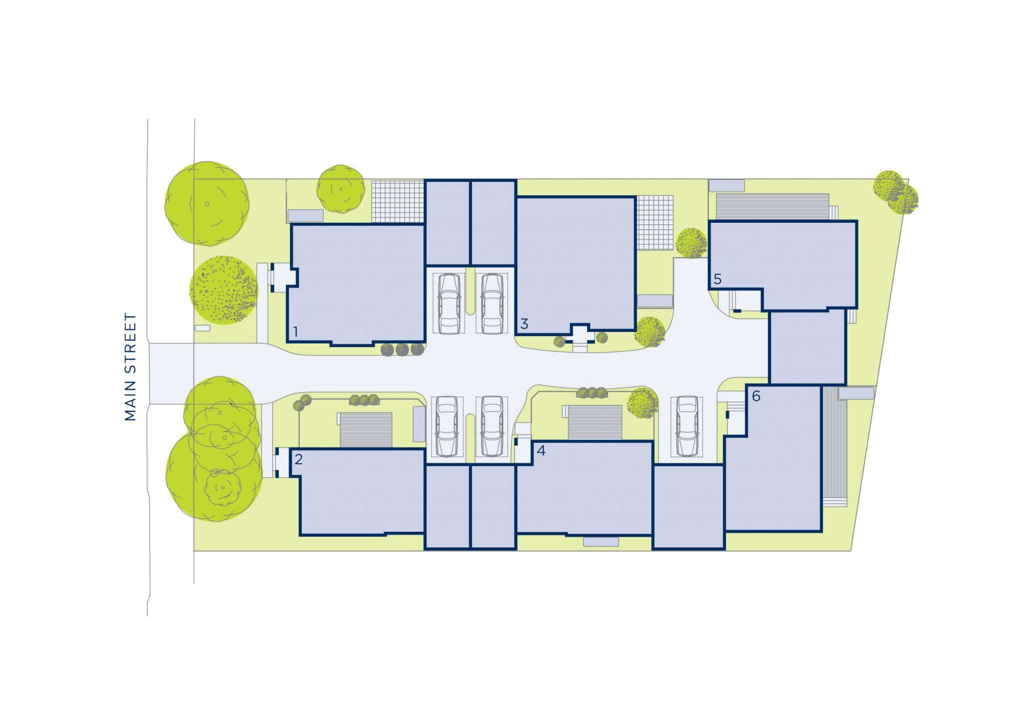 Plan of Mulberry custom home design at St. Rosebud West