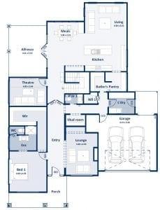 Ivanhoe Ground Floor Plan