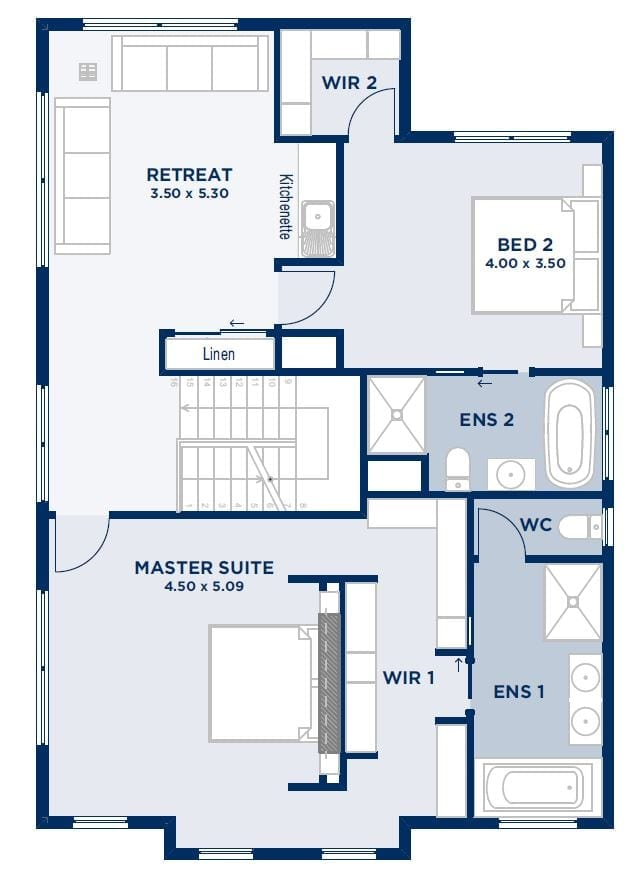 Berwick First floor plan