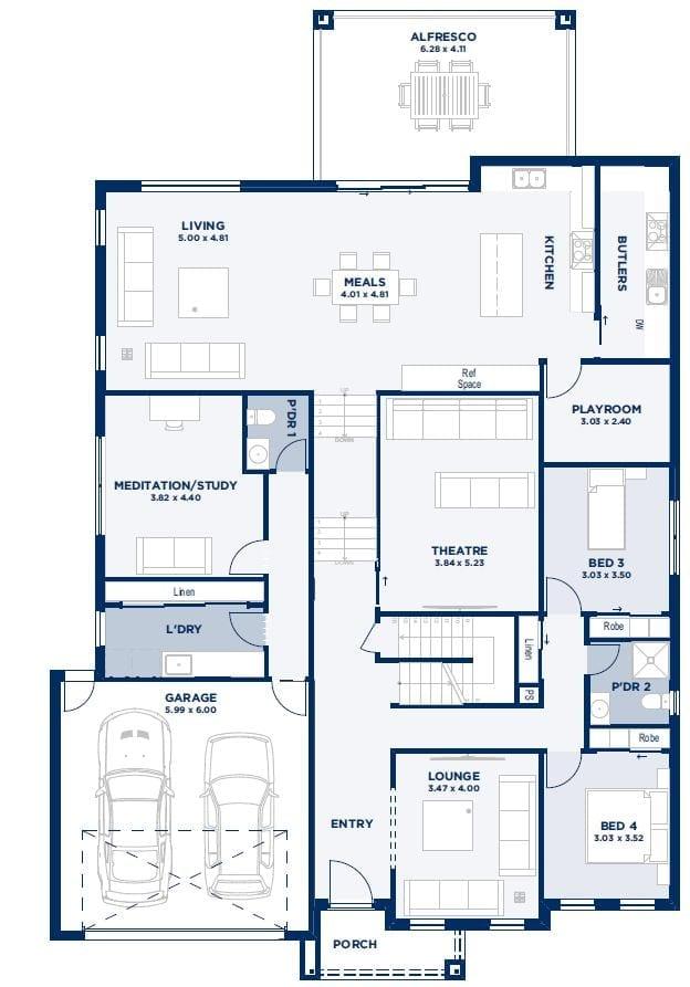 Berwick Ground floor plan