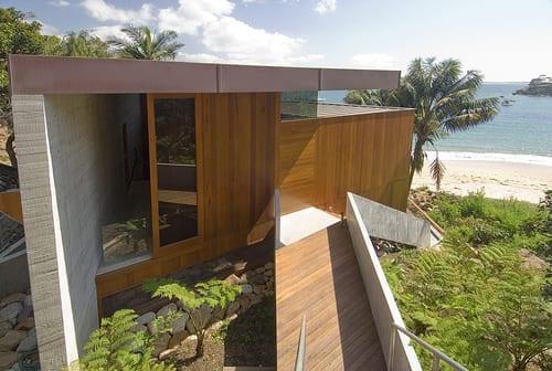 sloping block beach cliff house